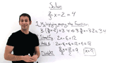 How Do You Solve a Multi-Step Equation with Fractions by Multiplying Away the Fraction?